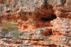 Roccia scavata primo piano Immagine Stock Libera da Diritti