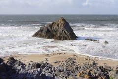 Roccia solitaria Gower Fotografia Stock