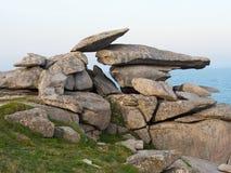 Roccia St Mary & x27 del quadro di comando; isole di s di Scilly Fotografia Stock Libera da Diritti