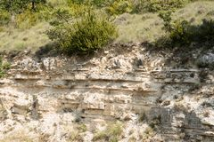 Roccia stratificata in Provenza, Francia Fotografia Stock Libera da Diritti