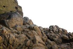 Roccia su fondo bianco isolato Fotografia Stock