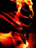 Roccia su fuoco Immagini Stock