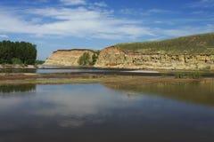 Roccia sul fiume Fotografia Stock Libera da Diritti