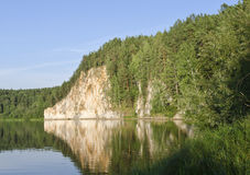 Roccia sul fiume Immagine Stock Libera da Diritti