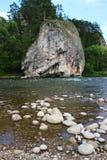 Roccia sul fiume immagini stock