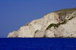 Roccia sul litorale all'isola della Zacinto Fotografia Stock Libera da Diritti