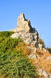 Roccia sull'isola di Samos fotografie stock libere da diritti