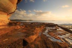Roccia sulla spiaggia Immagini Stock Libere da Diritti