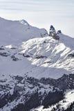 Roccia tagliente alpina nelle alpi dello svizzero di inverno Immagini Stock Libere da Diritti