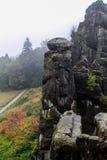 Roccia tedesca di autunno della natura Immagine Stock Libera da Diritti