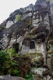 Roccia tedesca di autunno della natura Immagine Stock