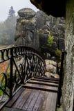 Roccia tedesca di autunno della natura Fotografie Stock