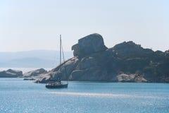 Roccia Testa della Strega, Spargi wyspa - Obrazy Royalty Free
