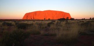 Roccia Uluru di Ayers Fotografie Stock