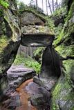 Roccia in una valle a  Immagine Stock Libera da Diritti