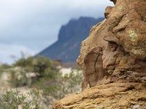 Roccia in valle della luna dell'argentina Fotografie Stock