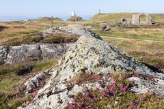 Roccia vulcanica e reliquie Fotografia Stock Libera da Diritti