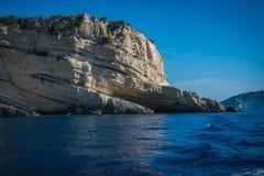 Roccia in Zacinto, Grecia Immagini Stock
