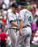 Rocco Baldelli and Lou Pinella, Tampa Bay Royalty Free Stock Image