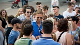 Rocco Siffredi meets his fans in Turin - Italy Stock Image