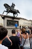 Rocco Siffredi meets his fans in Turin - Italy Royalty Free Stock Photos