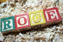 ROCE return on capital employed acronym on wooden blocks royalty free stock photos