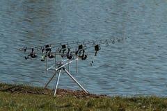 Roces para pescar Fotos de archivo libres de regalías