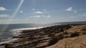 Rocha乌拉圭海滩  免版税图库摄影