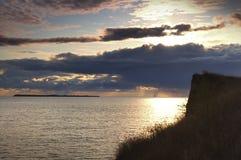 A rocha acima do mar Imagens de Stock Royalty Free