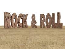 Rocha & rolo Fotografia de Stock Royalty Free