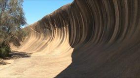 A rocha Austrália ocidental da onda inclina acima filme