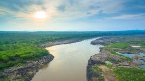 rocha bonita despercebida de 3000 bok de Mekong Imagem de Stock