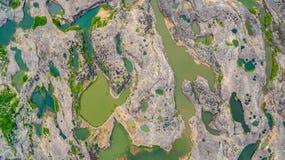 rocha bonita despercebida de 3000 bok de Mekong Imagem de Stock Royalty Free