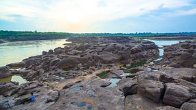 rocha bonita despercebida de 3000 bok de Mekong Foto de Stock Royalty Free
