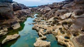 rocha bonita despercebida de 3000 bok de Mekong Fotos de Stock Royalty Free