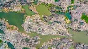 rocha bonita despercebida de 3000 bok de Mekong Imagens de Stock