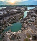 rocha bonita despercebida de 3000 bok de Mekong Imagens de Stock Royalty Free