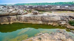rocha bonita despercebida de 3000 bok de Mekong Foto de Stock
