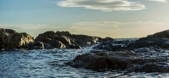 Rocha bonita do mar foto de stock royalty free