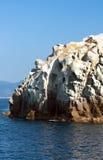 Rocha branca, console da Ilha de Elba, Italy Fotos de Stock Royalty Free