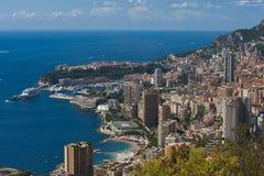 A rocha a cidade do principaute de monaco e de monte - Carlo no th Imagem de Stock