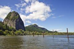 Rocha da baliza no rio de Colômbia Imagens de Stock Royalty Free