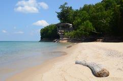 Rocha da capela no nacional retratado das rochas Lakeshore Foto de Stock