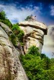 Rocha da chaminé no parque estadual da rocha da chaminé imagem de stock