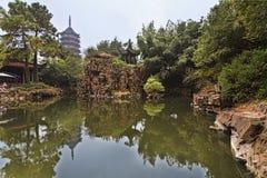 Rocha da lagoa do pagode da NC Suzhou Imagens de Stock Royalty Free