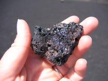 Rocha da lava, crateras da lua foto de stock royalty free