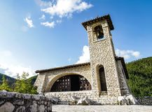 Rocha da oração em Roccaporena Sana Rita de Cascia Fotos de Stock Royalty Free