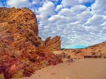 Rocha da praia Imagens de Stock