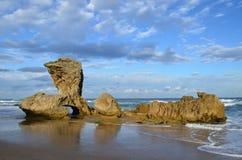 Rocha da sela, Kenton-em-mar imagens de stock