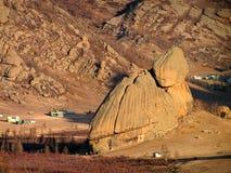 A rocha da tartaruga no parque nacional de Terejl fotos de stock royalty free